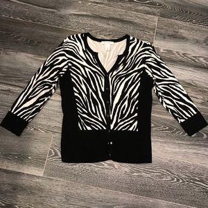 White House Black Market Zebra Sweater